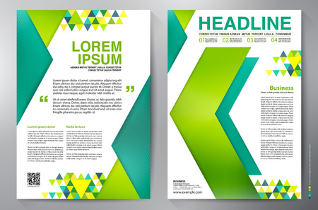 printing business: Brochure design a4 template. Vector illustration