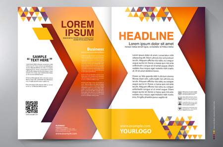 leaflets: Brochure design two pages a4 template. Vector illustration