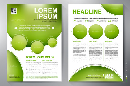 leaflets: Brochure design a4 template. Vector illustration