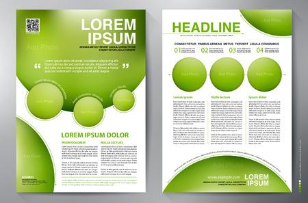 Brochure modello di progettazione a4. Illustrazione vettoriale