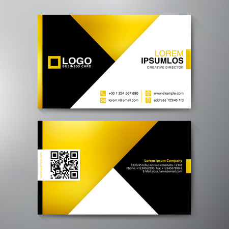 membership: Modern Business card Design Template. Vector illustration