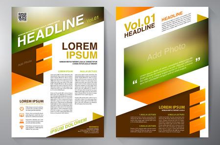 magazine page: Brochure design a4 template. Vector illustration
