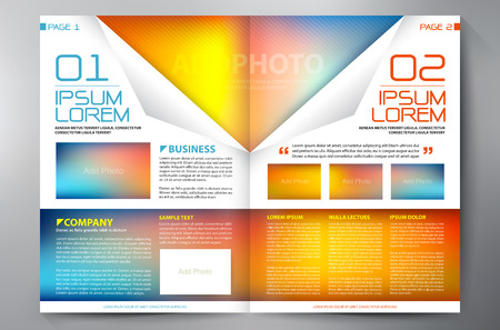 printing business: Brochure design two pages a4 template. Vector illustration