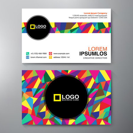 id card: Modern Business card Design Template. Vector illustration