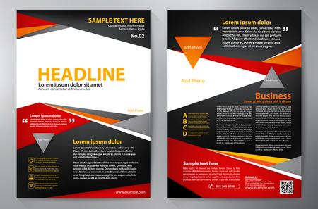 black and red: Brochure design a4 template. Vector illustration