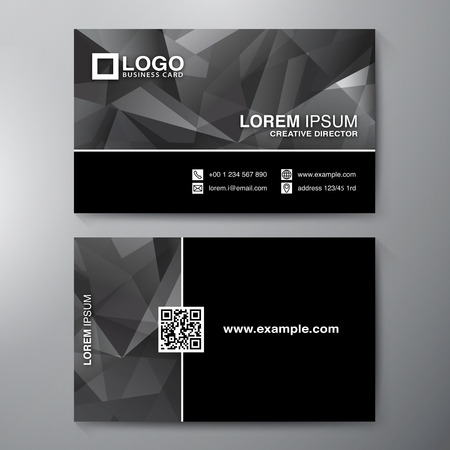 business card layout: Modern Business card Design Template. Vector illustration