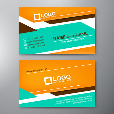 label tag: Modern Business card Design Template. Vector illustration