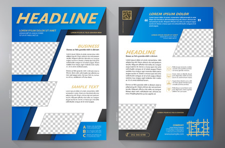 catalog templates: Brochure design a4 template. Vector illustration
