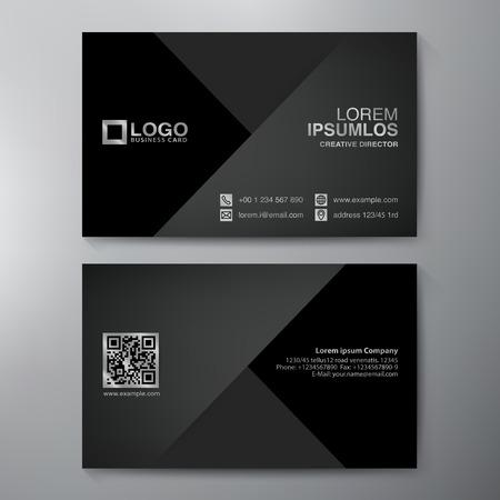 Tarjeta de visita moderna plantilla de diseño. Ilustración vectorial Ilustración de vector