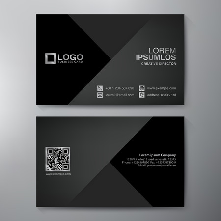 identidad: Tarjeta de visita moderna plantilla de diseño. Ilustración vectorial