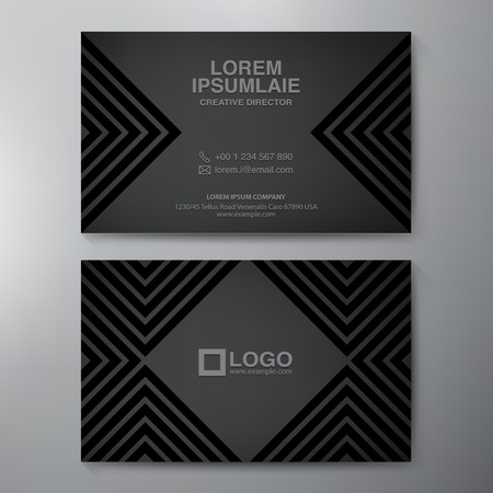 my name is: Modern Business card Design Template. Vector illustration
