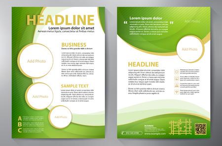folder: Plantilla de diseño a4 Folleto. Ilustración vectorial
