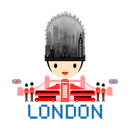 palace of westminster: London, England Travel Landmarks. Vector and Illustration