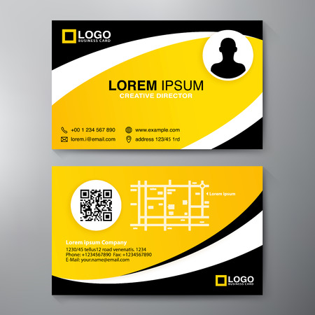 Modern Business Card Design Template. Vector Illustration  Membership Card Design