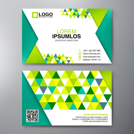 Modern Business card Design Template. Vector illustration Vector