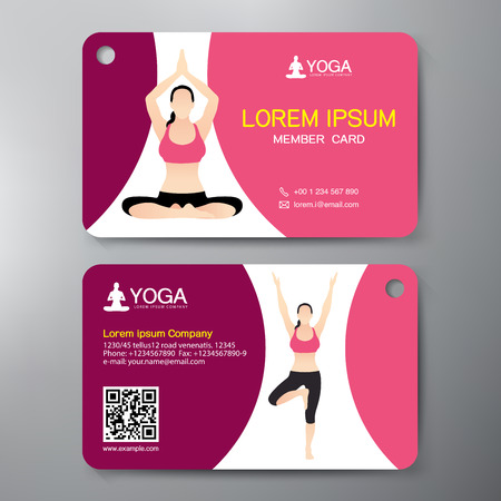 ayurveda: Yoga and Sport Card Design Template. Vector illustration Illustration