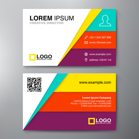 smart card: Modern Business card Design Template. Vector illustration
