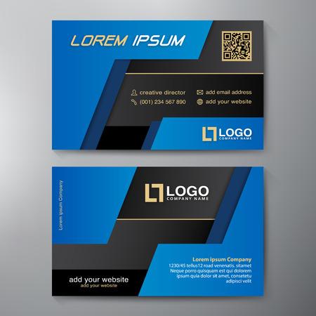 blue card: Modern Business card Design Template. Vector illustration