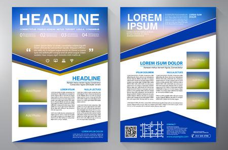 Brochure design a4 template. Vector illustration