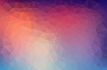Abstract polygon geometric background. Vector and illustration Çizim