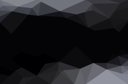 abstract black: Abstract polygon geometric background. Vector and illustration Illustration