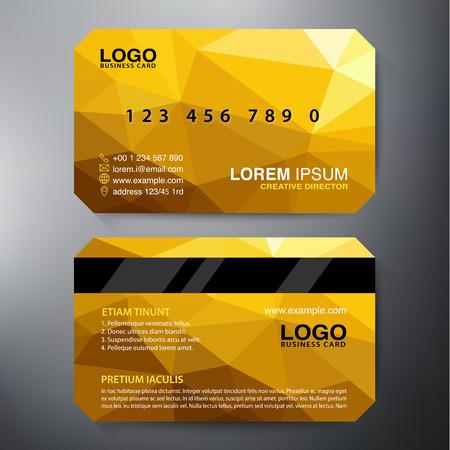 Modern visitekaartje Design Template. Vector illustratie