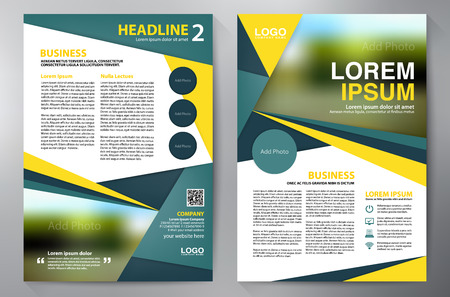 magazine page: Brochure design a4 template. Vector illustration