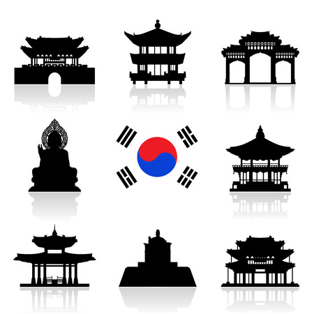 the temple: Korea Travel Landmarks.