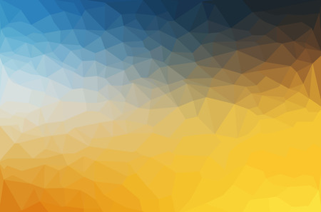 yellow: Abstract polygon geometric background. Vector and illustration Illustration