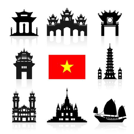 The landscape of Saigon: Địa danh du lịch Việt Nam. Vector và Illustration