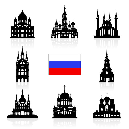 saint petersburg: Russia Travel Landmarks icon. Vector and Illustration Illustration