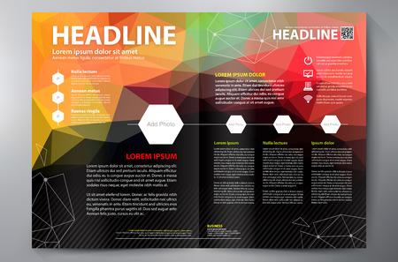 business card design: Brochure design a4 template. Vector illustration