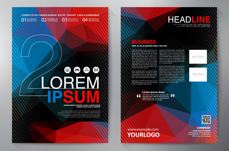 a4: Brochure design a4 template. Vector illustration
