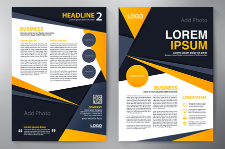 a4: Brochure design a4 template. Illustration
