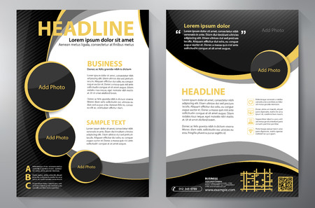 Brochure design a4 template. 矢量图像
