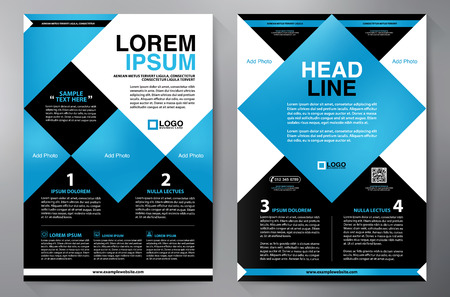 a4: Brochure design two pages a4 template.