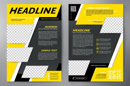 a4: Brochure design a4 template. Illustration