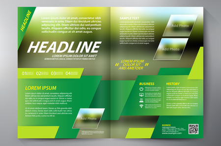 trapezium: Brochure design a4 template. Illustration