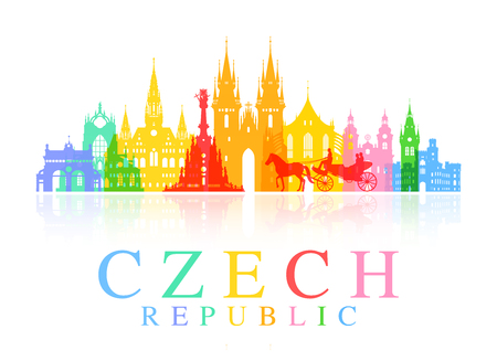Prague, Czech Republic.  イラスト・ベクター素材