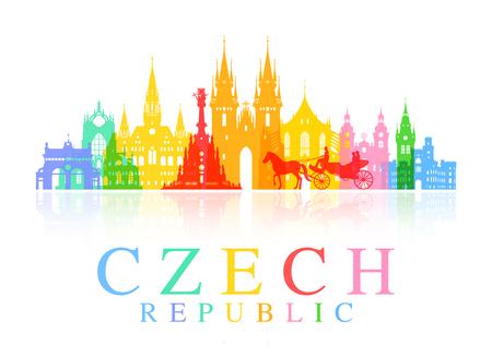 czech: Prague, Czech Republic. Illustration