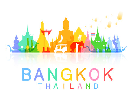 bangkok Thailand. Illustration