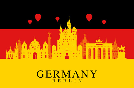 Germany, Berlin travel landmark. Stock Vector - 53302958