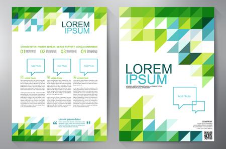 a4 template ontwerp van de brochure