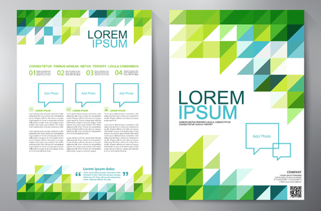 Broschüre Design a4 Vorlage Standard-Bild - 55008955
