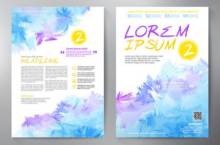imprenta: diseño de la plantilla A4 folleto.