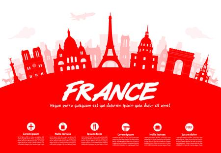 France, Paris Travel Landmarks.