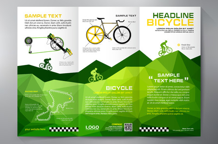 Brochure leaflet design tri-fold template. illustration