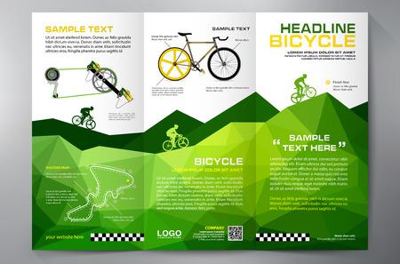 Broszura ulotki projektowanie tri-fold szablonu. ilustracja