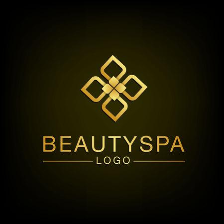GLOD: Beauty Flower spa design.  Illustration.