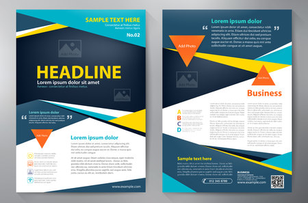 modello di progettazione a4 brochure. illustrazione